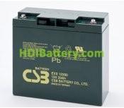 Batería para Caravana 12v 20ah Plomo AGM EVX-12200 CSB